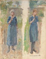 23: Ernest QUOST (1844-1931)  Les deux soeurs  Huile su