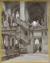24: Ernest QUOST (1844-1931)  Saint Etienne du Mont et