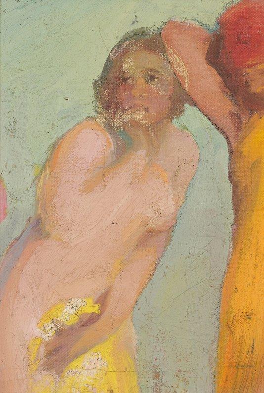 112: Pavel CHMAROFF (1874-1950)   Effrayée  Huile sur i