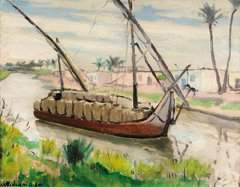 157: Joseph MISRAKI (n� en 1895)  Felouque sur le Nil