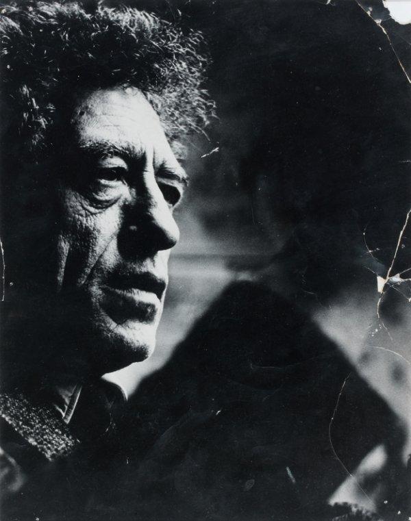 1: Anonyme Portrait d'Alberto Giacometti  Tirage noir e