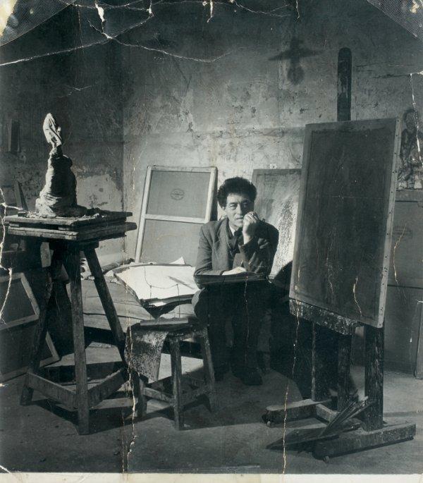 11: Douglas GLASS (1901-1978)  Alberto Giacometti dans