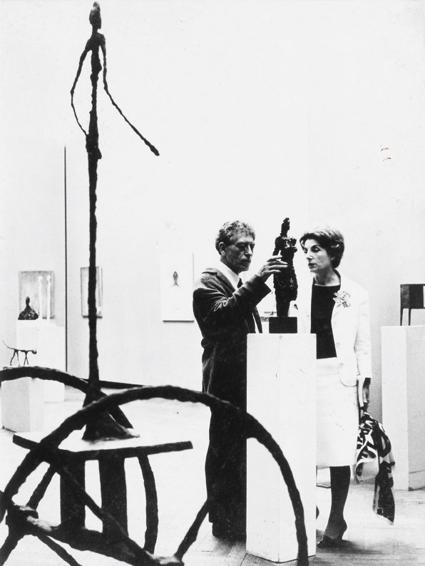 17: Erhard Wehrmann  Alberto Giacometti à son expositi