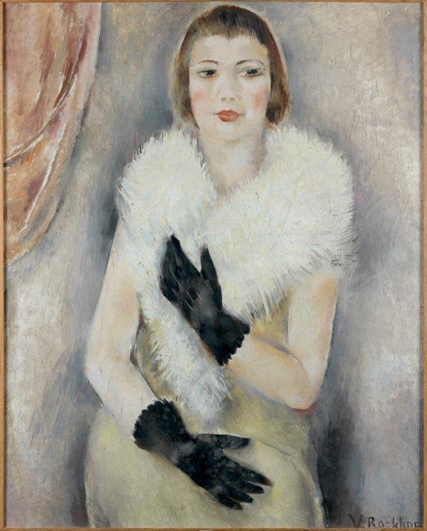 150: Vera ROCKLINE (1896-1934) Femme gantée de noir Hui