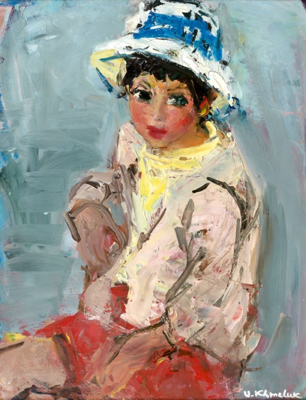 204: Vassyl KHMELUK (1903-1986) Jeune garçon Huile sur