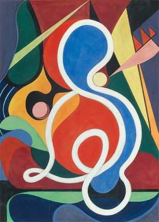 332: Auguste HERBIN (1882-1960) Composition, 1931 Gouac