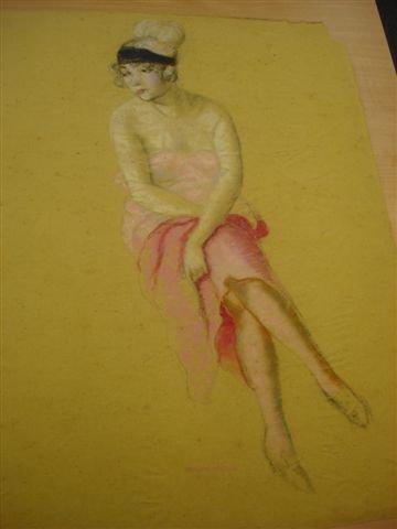 3: MANZANA-PISSARRO. Drawing. Roboa with blue bandeau.