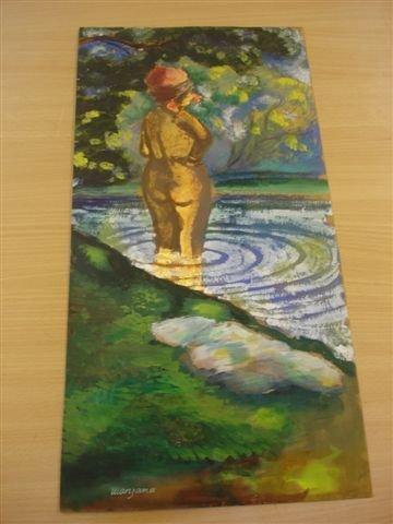 12: MANZANA-PISSARRO. Watercolor. Bather.