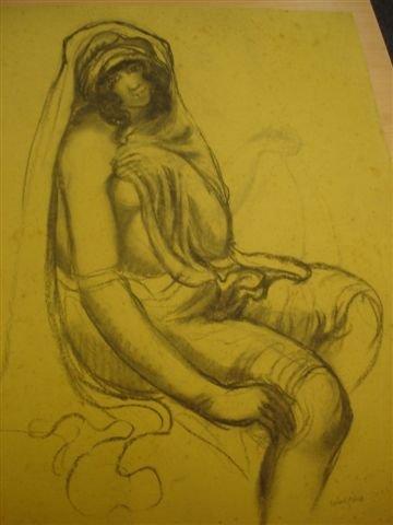 22: MANZANA-PISSARRO. Charcoal. North African woman.
