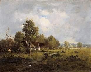 RICHET Landscape. Oil on pannel