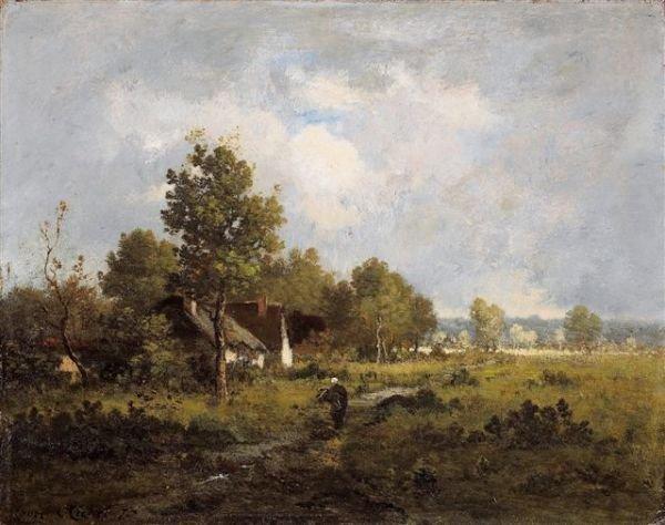1176: RICHET Landscape. Oil on pannel