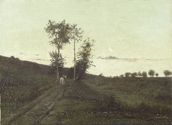 1185: CHINTREUIL Landscape. Oil on canvas