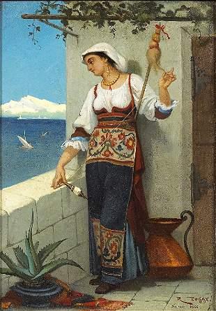 POGGI (1840-1892), ITALIAN SCHOOL. Young Italian