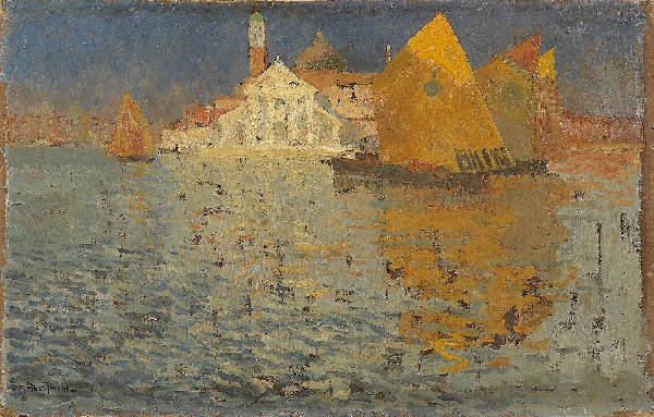 1215: ABEL-TRUCHET View of Venice. Oil on canvas