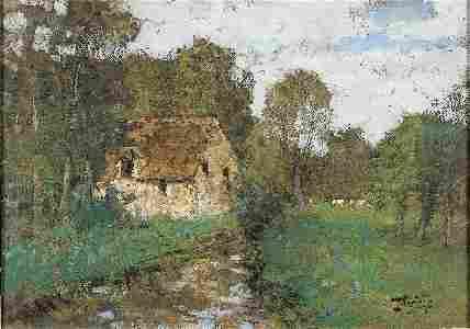 1276: Pierre-Eugène MONTEZIN Landscape Gouache
