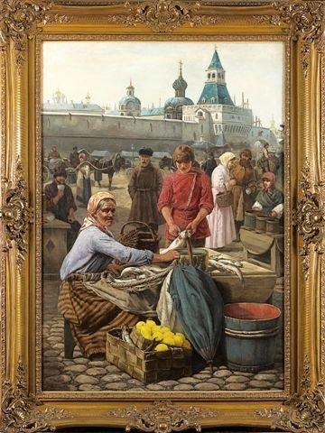 12: Henri HOUBEN Belgian Oil Market in the Red Sqaure,