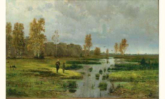 15: WASSILIEFF, Russian School. Landscape. Oil on canva