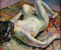 111 CARRERA Nu allong nude Oil on canvas