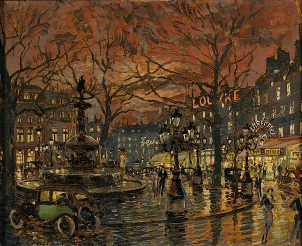 1: KOROVINE Russian Painting Square in Paris