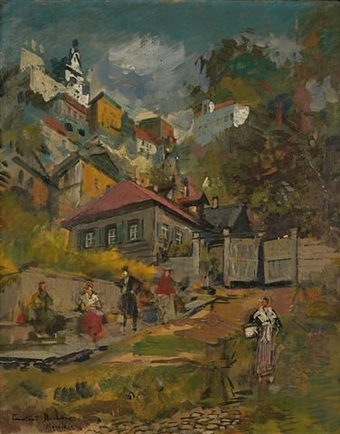 4: KOROVINE Signed Russian Landscape Painting