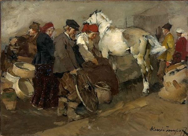 14:ISSUPOFF, Russian Peasants Horse Painting