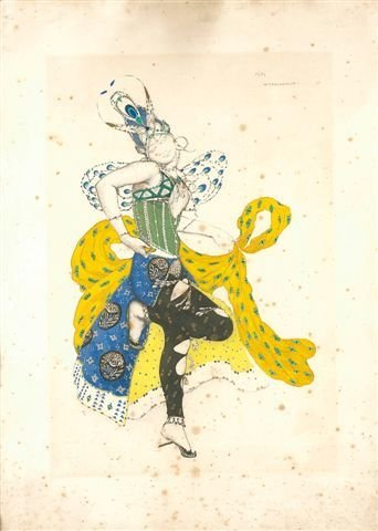21: Léon BAKST, Russian Costume Design, Numbered Print