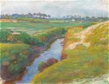45: SOUZA PINTO Portuguese Landscape Pastel