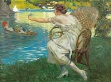 245: Henri MONTASSIER, Boatride, Oil on canvas