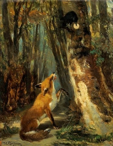 29: Théodore ROUSSEAU (French 1812-1867) Fox