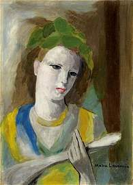 81: Marie LAURENCIN (French 1885-1956). Portrait of a y