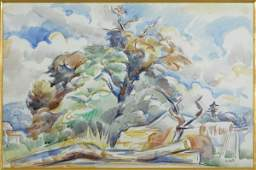 95 Andr LHOTE Watercolor 18851962 Tree