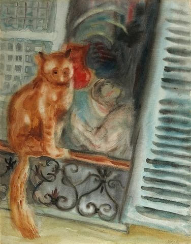 7: RYBACK (1897-1935), Russian. Cat. Gouache