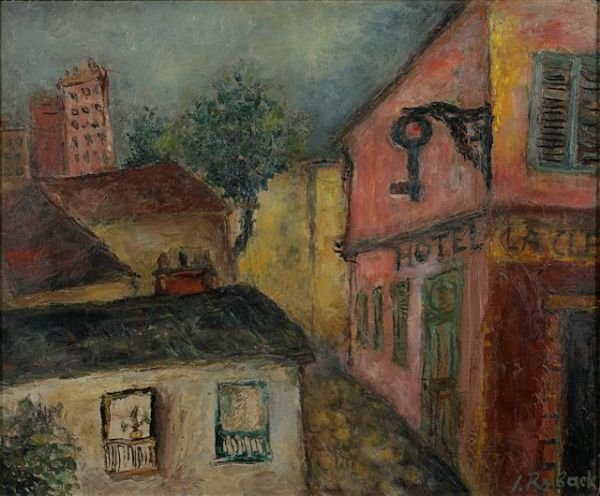 11: RYBACK (1897-1935), Russian.  View of Montmartre. O