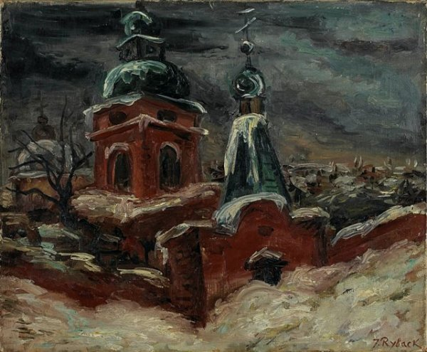 12: RYBACK (1897-1935), Russian.  View of Orthodox Chur