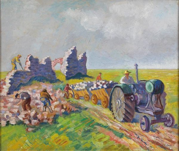 13: RYBACK (1897-1935), Russian. Transporting Rocks Oil