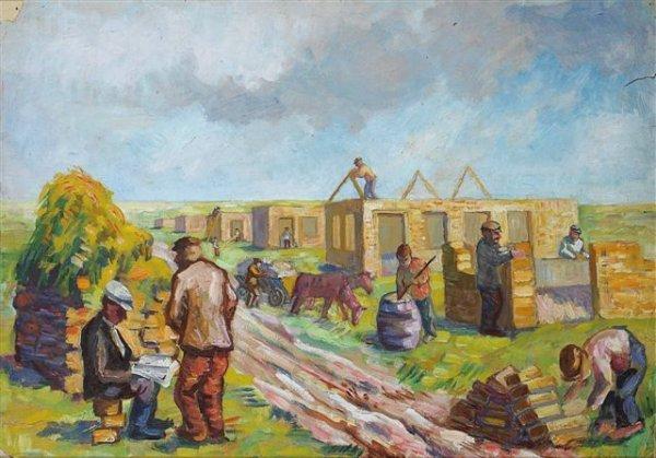 15: Issachar Ber RYBACK (1897-1935), Russian.  Village