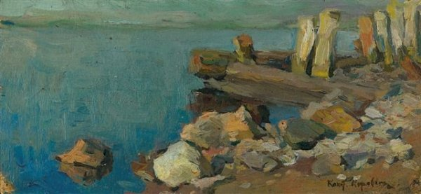 17: Constant-Alexis KOROVINE (1861-1939), Russian. Rive