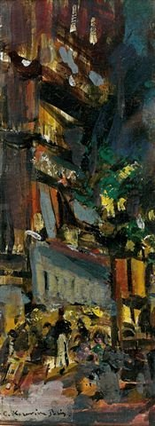 18: Constant-Alexis KOROVINE (1861-1939), Russian.Stree