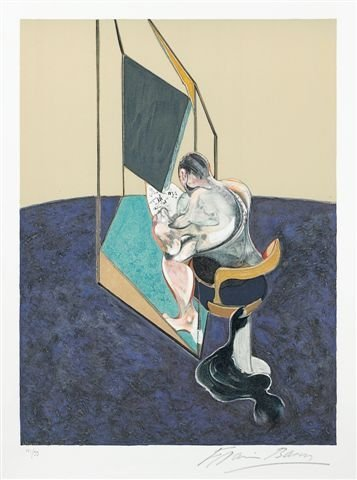 255: Francis BACON (1909-1992), Irish.  Homme à sa toil