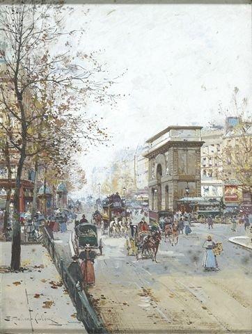 1: Eugène GALIEN-LALOUE (1854-1941) La Porte Saint-Mart