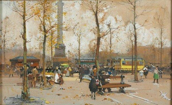 3: Eugène GALIEN-LALOUE (1854-1941) Place de la Bastill