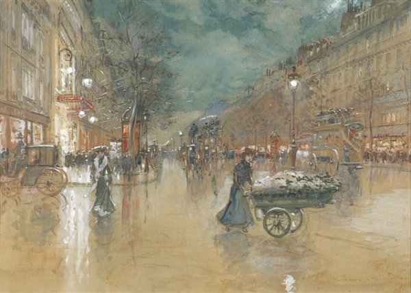 8: Georges STEIN (born in 1870) Les Grands Boulevards W