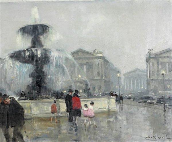 11: Jules-René HERVÉ (1887-1981) Fountain on the Concor
