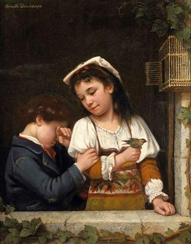 17: Camille DESCHAMPS (XIXe-XXe century) Children with