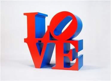 282: Robert INDIANA (n� en 1928)* Love - Red, blue Poly