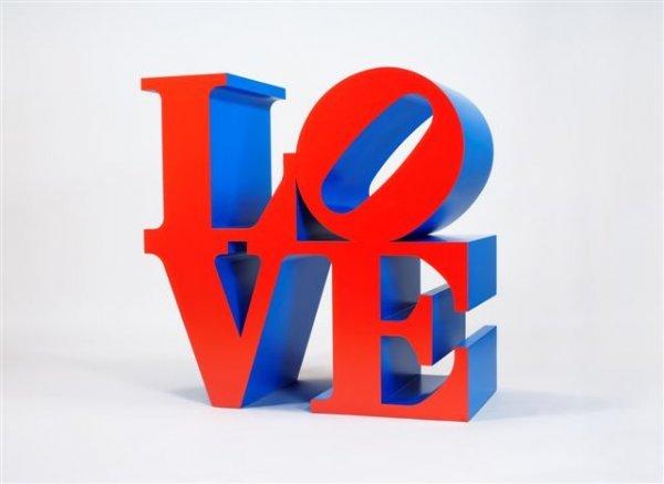 282: Robert INDIANA (né en 1928)* Love - Red, blue Poly