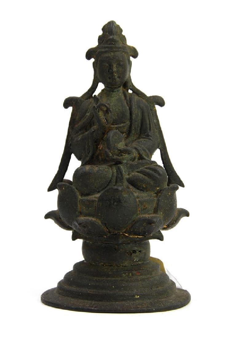 KOREAN BRONZE BUDDHA, GORYEO DYNASTY (918- 1392)