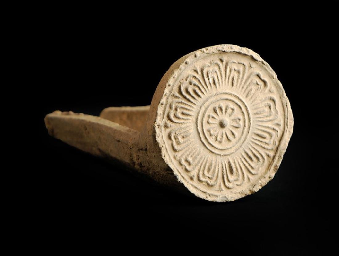 KOREAN CERAMIC ROOF TILES, SILLA PERIOD (669-935)