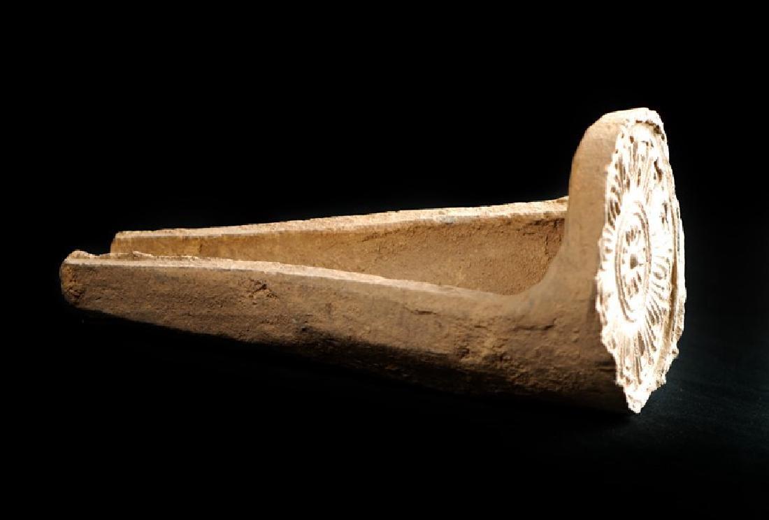 KOREAN CERAMIC ROOF TILES, SILLA PERIOD (669-935) - 2