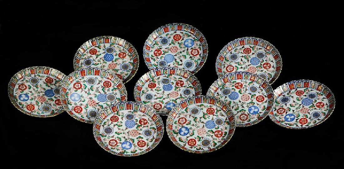 A GROUP OF TEN IMARI PLATES